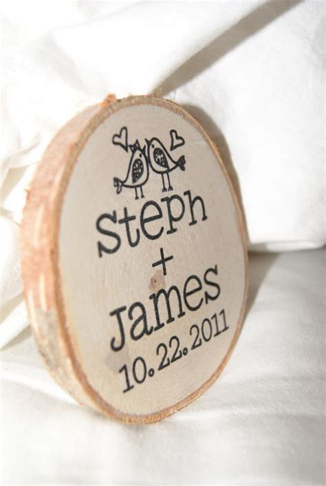 wedding favors magnets wooden magnet favors weddingbee photo gallery
