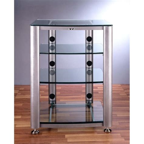 4 shelf glass audio cabinet rack hgr404x