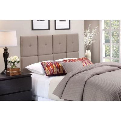 expanded queen headboard foremost tessa full queen size tile headboard with tuft in