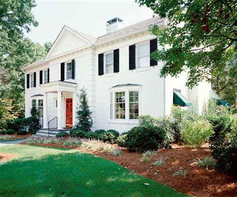 the original paint color ideas for colonial revival houses this house