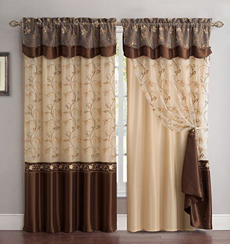 Fancy Collection Embroidery Curtain Set 1 Panel Drapes