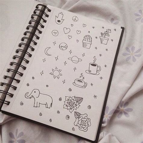 how to doodle in a notebook adorable aesthetic black doodle filter grunge