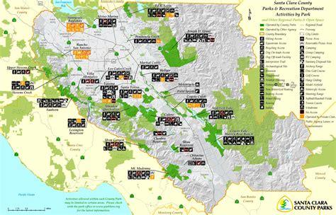 santa clara map santa clara county parks map