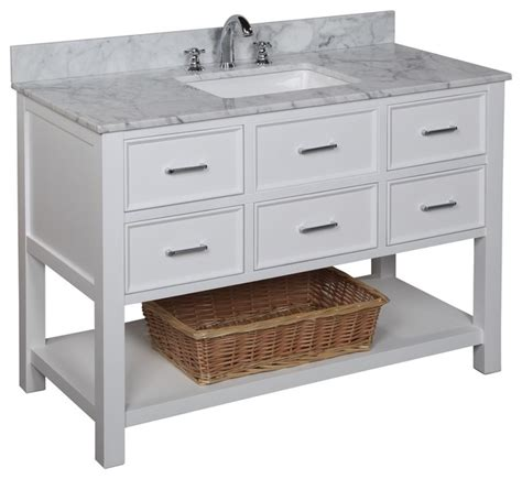 Bathroom Vanities Nh by New Hshire 48 In Bath Vanity Carrara White
