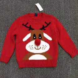 Christmas crochet sweater child clothes kids clothing 2015 winter baby