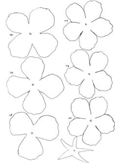magnolia flower template petal template of paper flowers paper