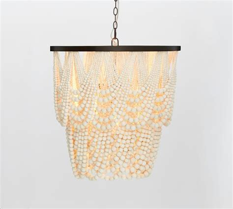 Pottery Barn Beaded Chandelier 1000 Ideas About Wood Bead Chandelier On Bead Chandelier Beaded Chandelier And