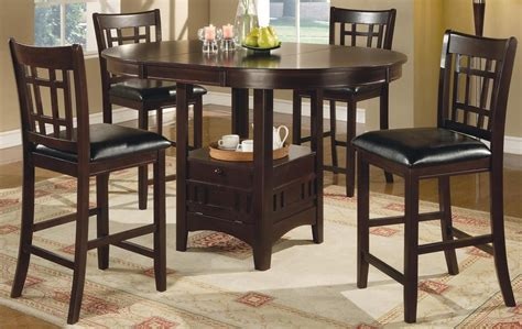 Cappuccino Dining Room Furniture Lavon Cappuccino Counter Height Dining Room Set From Coaster Coleman Furniture