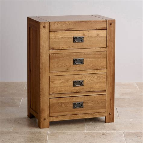 Oak Tallboy Drawers by Quercus 4 Drawer Tallboy In Solid Oak Oak Furniture Land