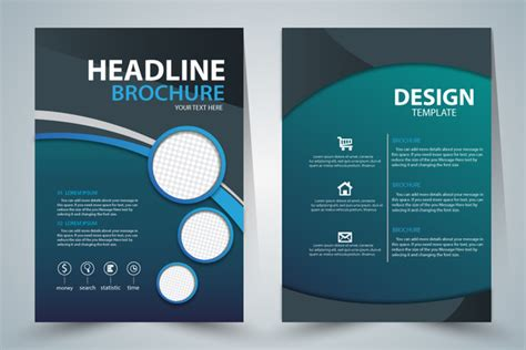 Free Adobe Illustrator Brochure Templates Brochure Template Design With Green Elegant Style Free Free Adobe Illustrator Templates