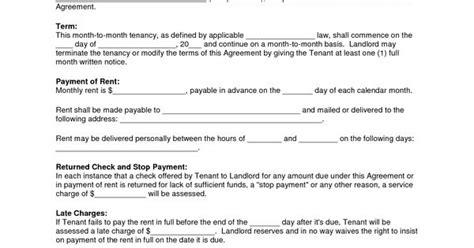 free copy rental lease agreement residential rental