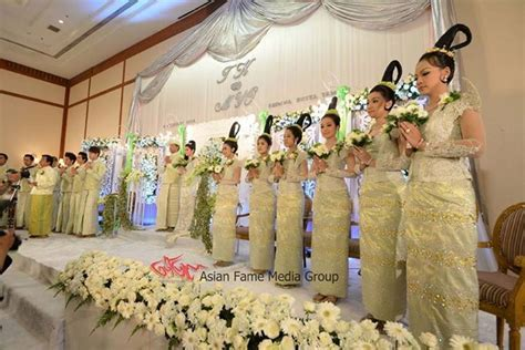 7 best images about Myanmar Wedding Dress on Pinterest