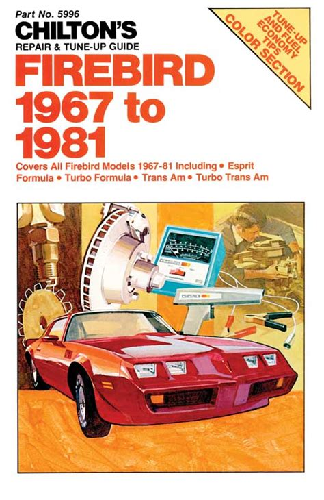 automotive service manuals 1969 pontiac firebird spare parts catalogs 1967 1981 all makes all models parts l582 chilton s 67 81 firebird repair manual classic