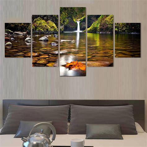 aliexpress home decor no frame 5 pcs landscape painting modern home decor