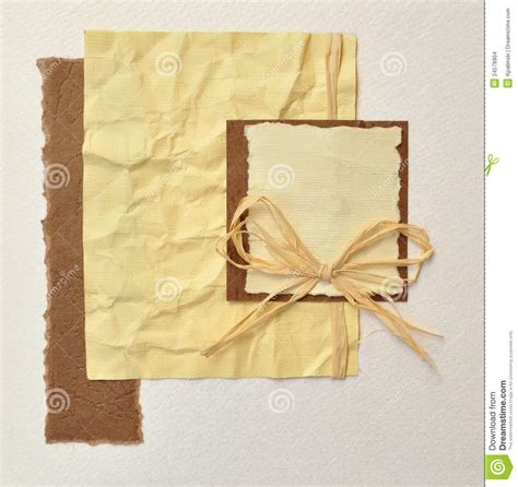 Handmade Cd Covers - handmade invitation card or album book cover stock photo