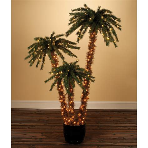 tree in lighted pot 3 4 5 ft pre lit potted palm trees by sterling tree company at hayneedle