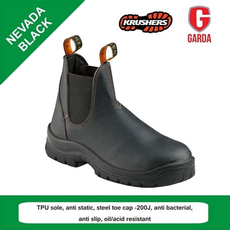 Sepatu Safety Shoes Merk sepatu safety shoes krushers nevada black murah