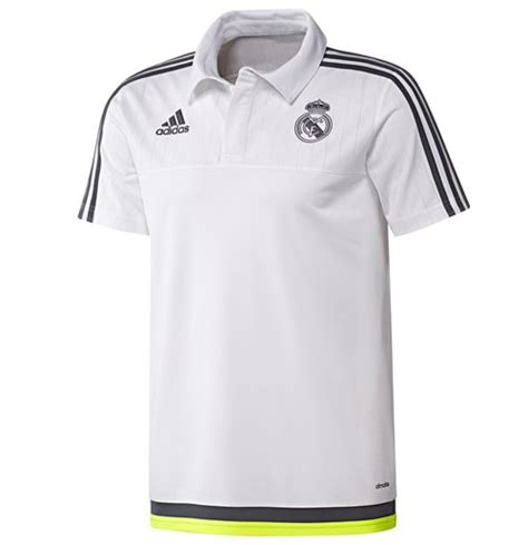 Polo Shirt Real Madrid Cl Black 2015 2016 real madrid adidas cl polo shirt white for