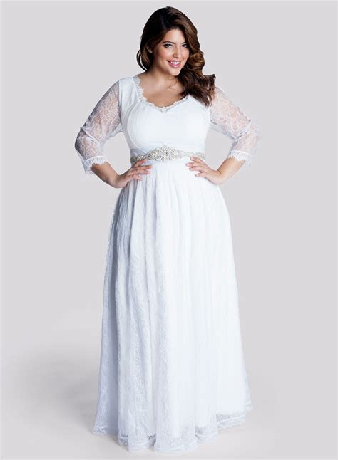Wedding Plus Size Dresses by Simple Plus Size Wedding Dress With Sleevescherry