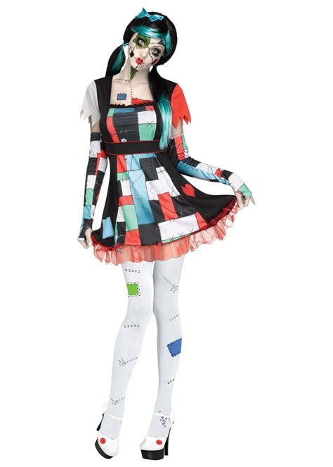 edgy rag doll women costume scary costumes
