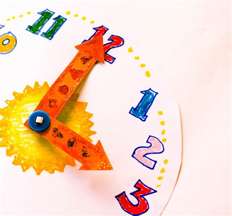 How To Make A Paper Clock - how to make a paper clock for teaching time 7 steps