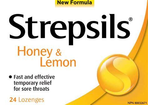strepsils sore throat lozenges honey lemon canada photo
