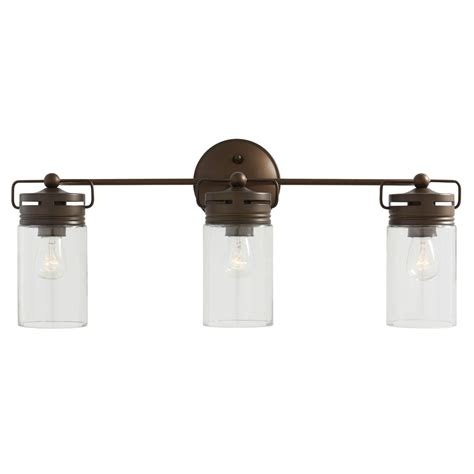 allen roth bathroom vanity lights shop allen roth 3 light vallymede aged bronze bathroom