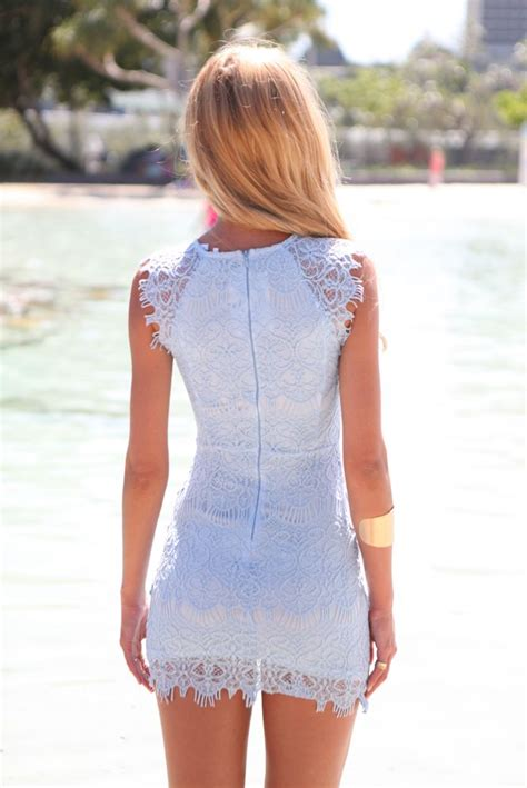 light blue mini dress light blue lace bodycon mini dress by xenia boutique