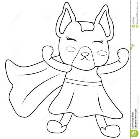superhero dog coloring page stock illustration image