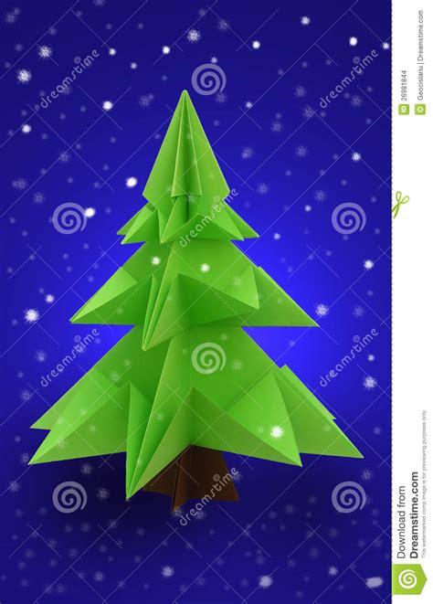 origami weihnachtsbaum stockbilder bild 26981844