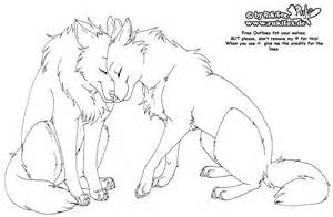 Outlines Of Wolves by Wolves Free Outline By Rukifox On Deviantart
