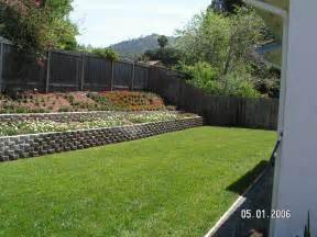 backyard wall retaining wall slope to flat backyard backyard