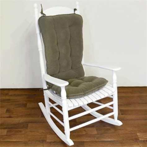 white wooden rocking bench green velvet upholstered rocking chair cushion sets with