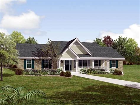 country ranch southern traditional house plan 87872