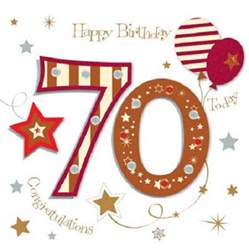 happy 70th birthday greeting card by talking pictures cards kates