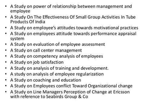 Mba Project Titles Human Resource Management by Project Report Titles For Mba In Human Resources