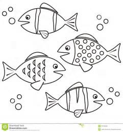Fishes  Coloring Stock Vector Image 40145638 sketch template