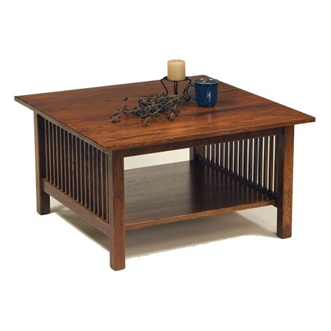 Mission Coffee Table Amish Mission Square Coffee Table Mission Tables Occasionals Living