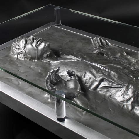 Han Solo Frozen In Carbonite Coffee Table The Green Head Han Carbonite Coffee Table For Sale
