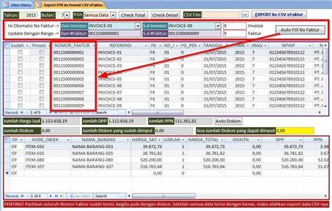 format excel import data e faktur efaktur converter cara mudah efektif cepat untuk