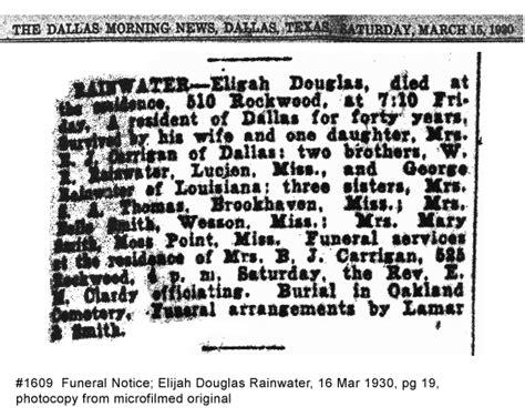 dallas morning news obituary section rainwater genealogy obituaries a k and profiles