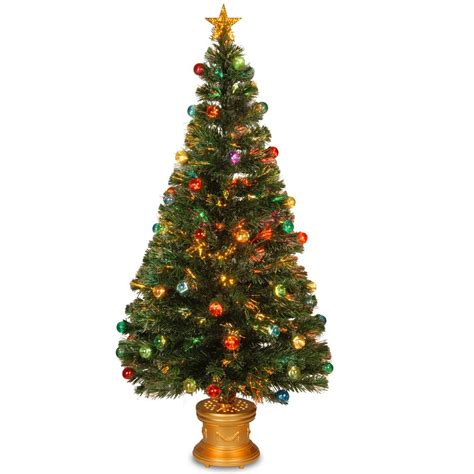 home depot fiber optic christmas tree national tree company 5 ft fiber optic fireworks artificial tree with ornaments