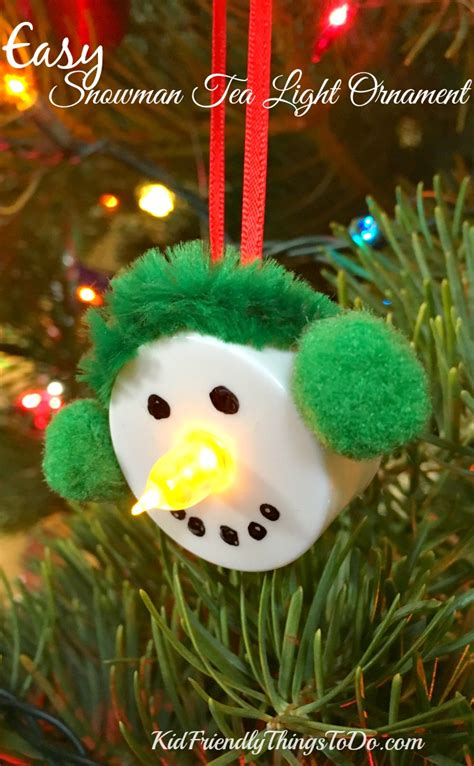 easy kid ornaments easy snowman tea light ornament craft