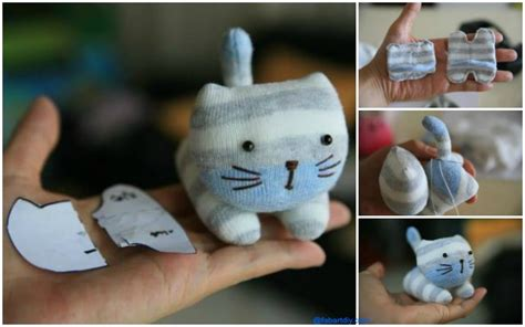 sock animal patterns cat sew diy sock kitten free pattern tutorial