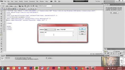 Templates For Dreamweaver Cs6 by Use Dreamweaver Cs6 To Insert Meta Tags