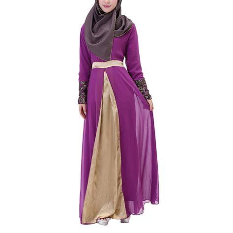 Gamis Abaya Dress Maxi Maxi Dress aivtalk muslim floral chiffon sleeves maxi