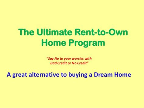rent to own home program review