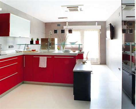 red and white kitchen design 2 modern kitchen designs in white and red colors creating