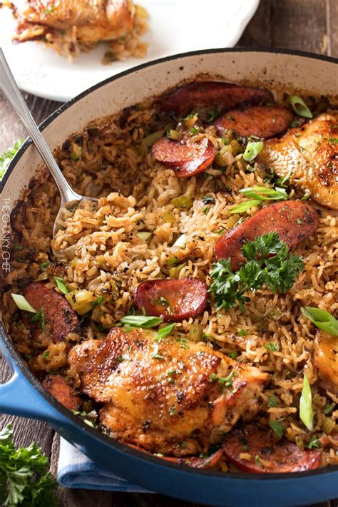 one pot chicken and dirty rice the chunky chef