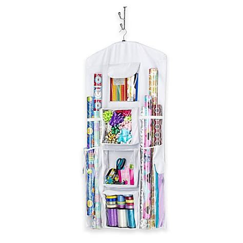 bed bath and beyond gift wrapping whitmor hanging gift wrap organizer in white bed bath beyond
